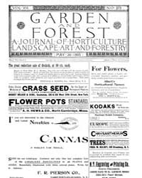 Garden and Forest Volume 8 Issue 379 May... by Charles S. Sargent