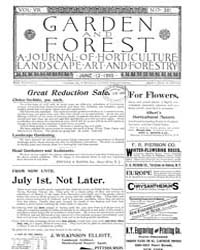 Garden and Forest Volume 8 Issue 381 Jun... by Charles S. Sargent