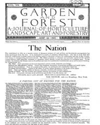 Garden and Forest Volume 8 Issue 383 Jun... by Charles S. Sargent