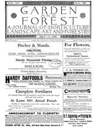 Garden and Forest Volume 8 Issue 385 Jul... by Charles S. Sargent
