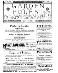 Garden and Forest Volume 8 Issue 386 Jul... by Charles S. Sargent