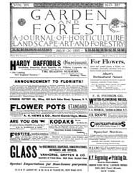Garden and Forest Volume 8 Issue 387 Jul... by Charles S. Sargent