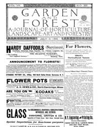 Garden and Forest Volume 8 Issue 388 Jul... by Charles S. Sargent
