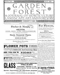 Garden and Forest Volume 8 Issue 389 Aug... by Charles S. Sargent