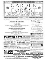 Garden and Forest Volume 8 Issue 390 Aug... by Charles S. Sargent