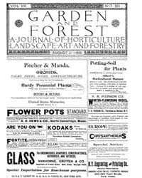 Garden and Forest Volume 8 Issue 391 Aug... by Charles S. Sargent