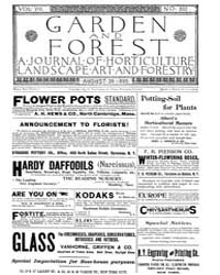 Garden and Forest Volume 8 Issue 392 Aug... by Charles S. Sargent