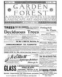Garden and Forest Volume 8 Issue 397 Oct... by Charles S. Sargent