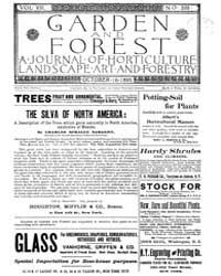 Garden and Forest Volume 8 Issue 399 Oct... by Charles S. Sargent