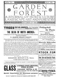 Garden and Forest Volume 8 Issue 400 Oct... by Charles S. Sargent