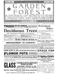 Garden and Forest Volume 8 Issue 402 Nov... by Charles S. Sargent