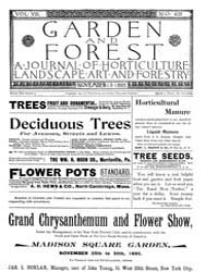 Garden and Forest Volume 8 Issue 403 Nov... by Charles S. Sargent