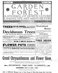 Garden and Forest Volume 8 Issue 404 Nov... by Charles S. Sargent
