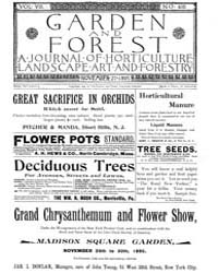 Garden and Forest Volume 8 Issue 405 Nov... by Charles S. Sargent