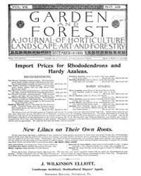 Garden and Forest Volume 8 Issue 408 Dec... by Charles S. Sargent