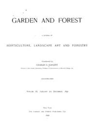 Garden and Forest Volume 9 Index by Charles S. Sargent