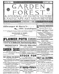 Garden and Forest Volume 9 Issue 410 Jan... by Charles S. Sargent