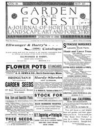 Garden and Forest Volume 9 Issue 411 Jan... by Charles S. Sargent