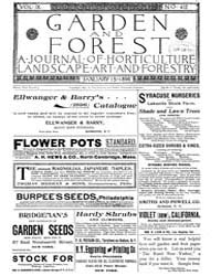 Garden and Forest Volume 9 Issue 412 Jan... by Charles S. Sargent