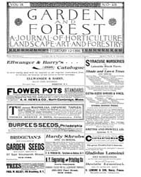 Garden and Forest Volume 9 Issue 416 Feb... by Charles S. Sargent