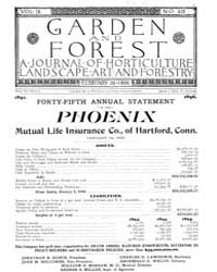 Garden and Forest Volume 9 Issue 418 Feb... by Charles S. Sargent