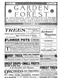 Garden and Forest Volume 9 Issue 419 Mar... by Charles S. Sargent