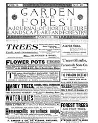 Garden and Forest Volume 9 Issue 421 Mar... by Charles S. Sargent