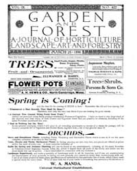 Garden and Forest Volume 9 Issue 422 Mar... by Charles S. Sargent