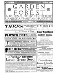 Garden and Forest Volume 9 Issue 423 Apr... by Charles S. Sargent