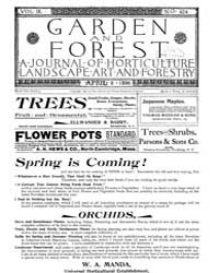 Garden and Forest Volume 9 Issue 424 Apr... by Charles S. Sargent