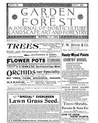 Garden and Forest Volume 9 Issue 425 Apr... by Charles S. Sargent