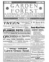 Garden and Forest Volume 9 Issue 426 Apr... by Charles S. Sargent