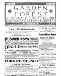 Garden and Forest Volume 9 Issue 427 Apr... by Charles S. Sargent
