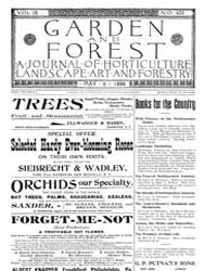 Garden and Forest Volume 9 Issue 428 May... by Charles S. Sargent