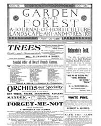 Garden and Forest Volume 9 Issue 430 May... by Charles S. Sargent