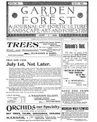 Garden and Forest Volume 9 Issue 432 Jun... by Charles S. Sargent