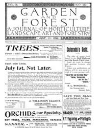 Garden and Forest Volume 9 Issue 433 Jun... by Charles S. Sargent