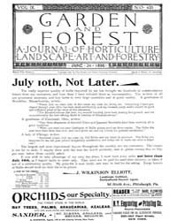 Garden and Forest Volume 9 Issue 435 Jun... by Charles S. Sargent