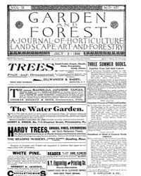 Garden and Forest Volume 9 Issue 437 Jul... by Charles S. Sargent