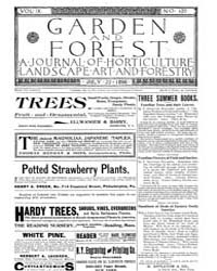 Garden and Forest Volume 9 Issue 439 Jul... by Charles S. Sargent