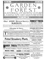 Garden and Forest Volume 9 Issue 440 Jul... by Charles S. Sargent