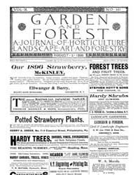 Garden and Forest Volume 9 Issue 441 Aug... by Charles S. Sargent