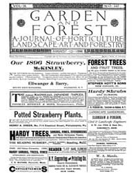 Garden and Forest Volume 9 Issue 442 Aug... by Charles S. Sargent
