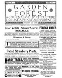 Garden and Forest Volume 9 Issue 443 Aug... by Charles S. Sargent