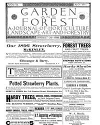 Garden and Forest Volume 9 Issue 444 Aug... by Charles S. Sargent