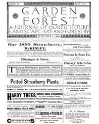 Garden and Forest Volume 9 Issue 445 Sep... by Charles S. Sargent