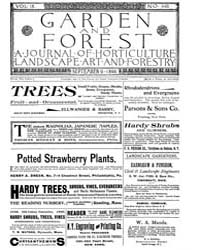 Garden and Forest Volume 9 Issue 446 Sep... by Charles S. Sargent