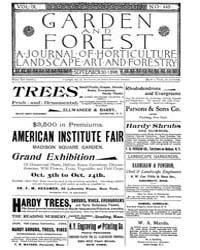 Garden and Forest Volume 9 Issue 449 Sep... by Charles S. Sargent