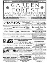 Garden and Forest Volume 9 Issue 451 Oct... by Charles S. Sargent
