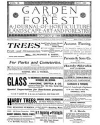 Garden and Forest Volume 9 Issue 452 Oct... by Charles S. Sargent